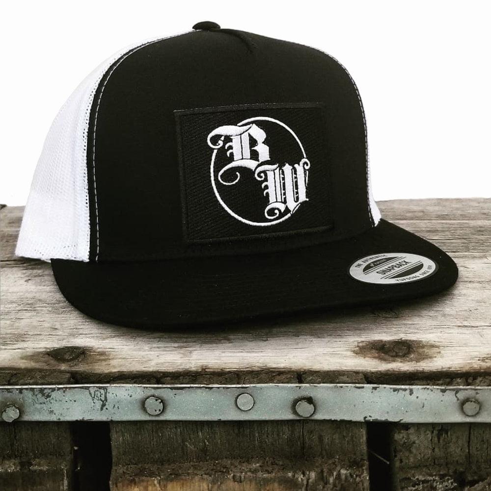 Burnt Whiskey Snapback Hat BW Logo