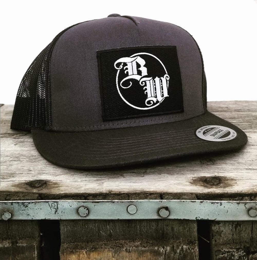 Burnt Whiskey Snapback Hat - BW Logo 1
