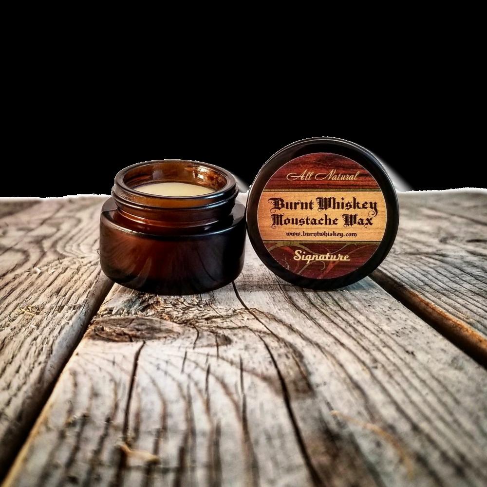 Signature Burnt Whiskey Moustache Wax