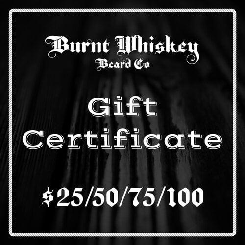 Burnt Whiskey Gift Certificate
