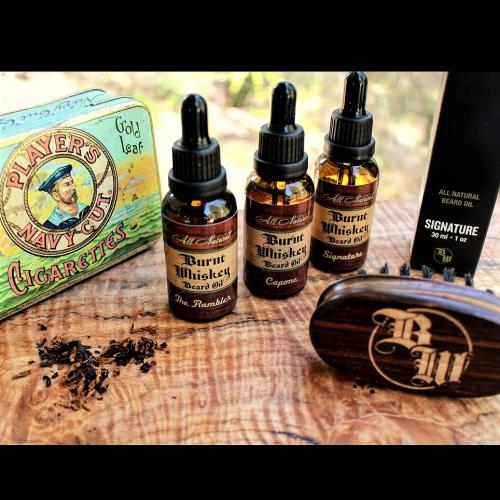 3 pack beard oils with brush